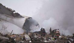 Появились кадры с места падения Boeing в Киргизии