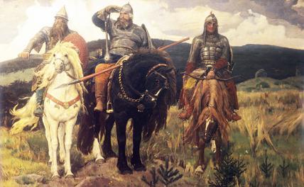 Зрада, если в каждой русской чайной есть картина «Три богатыря»!