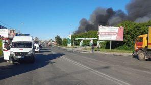 Взрывы баллонов и емкостей с топливом: Открытое горение на заправочной станции в Новосибирске