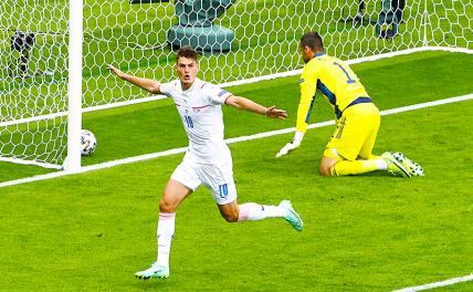 Чехия победила Шотландию на Евро-2020