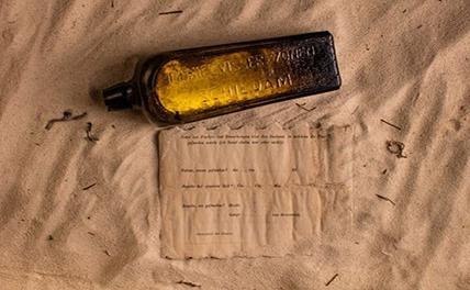 До пляжа добралась бутылка с письмом, написанным почти 132 года назад