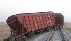 В Челябинске с радиоактивными отходами сошел поезд