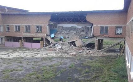 Часть школы рухнула в Иркутской области