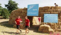 Настоящий болельщик! Житель российской деревни построил футбольное поле из соломы