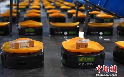 Почта Китая внедряет роботов для сортировки посылок