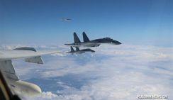 Китайские военные самолеты полетели над морем