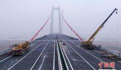 Самый длинный по пролету подвесной мост достраивают