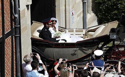 Принц Гарри и актриса Меган Маркл сыграли свадьбу