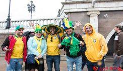 Болельщики поддержали команды своих стран на улицах Москвы