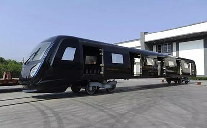 Китайская компания продемонстрировала вагон метро из углепластика