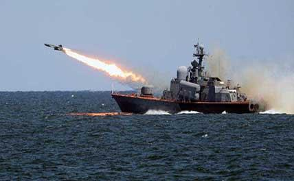 Учения Каспийской флотилии начались в Махачкале